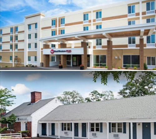 Best Western Plus (top pic)  Knights Inn (bottom pic)